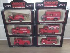 Lledo set of 6 Promotional Models, London's Burning, LCC Fire Brigade, Blackwall