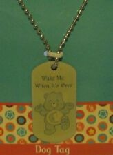 "Care Bears BEDTIME Bear 28"" DOG Tag Necklace ""Wake Me When It's Over"""