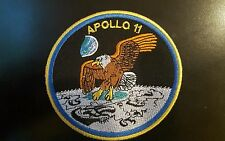 "Apollo 11 1969 moon-landing embroidered iron on patch 4"" (The Eagle Has Landed )"
