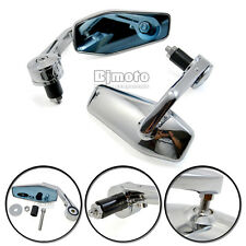 """1"""" 7/8"""" New Motorcycle Aluminum Rear View Side Mirror Handle Bar End  For Harley"""
