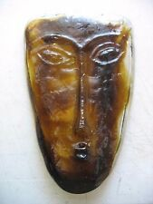 Kosta Boda ? Style Of ? BrownTribal Face Mask Sculpture