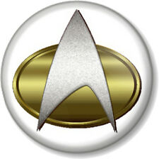 "Star Trek Insignia 1"" 25mm Pin Button Badge Geek Nerd Trekkie Crest Symbol Scifi"