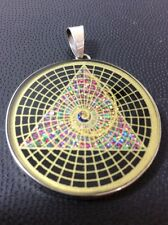 "Golden Mean Spiral Phi Pyramid Tourmaline Gemstone 1.5"" Pendant Necklace #Mystic"
