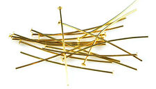 100 Very Thin Gold Plated Head Pins 24 Gauge 1.5 Inch