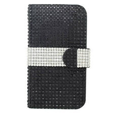 T-Mobile Samsung Galaxy Avant Bling Wallet Case Flip Pouch Cover + Screen Guard