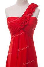 Classy One Shoulder Long Bridemaid Evening Dresses Pageant Formal Prom Ball gown