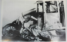 "12 By 18"" Black & White Picture 1926 1927 Ford Model T Fordor Sedan Wreck"