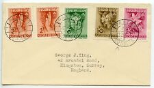 HUNGARY 1939 Mi.#612/5 1st Int'l Girl Guides Peace Camp Godollo