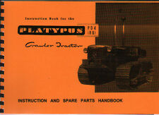 Platypus RD4 (R6) Crawler Tractor Instruction and Illustrated Spare Parts Book