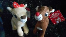 RUDOLPH RED NOSED REINDEER & CLARICE PLUSH DOLL TOY Lot of 2 - NWT Cute!!