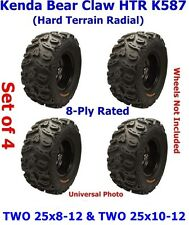 TWO (2) 25x8-12 & TWO (2) 25x10-12 Kenda Bear Claw HTR K587 Radial ATV Tires