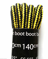 Black and Yellow Laces for Walking-Hiking Boots Kickers & Timberland Shoe Stripe