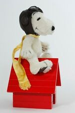 "8"" SNOOPY FLYING ACE - Mohair, Jointed, Wood Doghouse & Aviator Hat! LtdEd. NEW!"