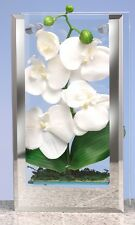 Ritzenhoff Breker of Germany 28cm Mirror Vase With Orchid Dried Flowers inside