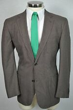 (42R) Men's Brown Classic Houndstooth Check Wool Blazer Sport Coat Jacket