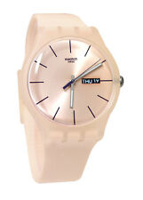 Swatch SUOT700 Rose Rebel  Pink Dial Unisex Watch NEW
