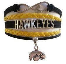 University of Iowa Hawkeyes College Infinity Bracelet Jewelry Apparel