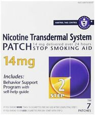 2 Pack - Habitrol Step 2 Nicotine Trans dermal System Patch 14mg 7 Patches Each