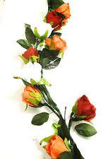 Rosen Girlande mit Beleuchtung  Kunstblumen Deko Kunstpflanze Seidenblumen
