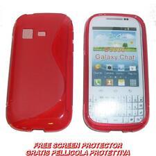 Pellicola + Custodia cover WAVE ROSSA per Samsung Galaxy Chat B5330