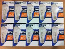 100w 130w watt ES E27 Screw In GLS Halogen Saver Clear Light Bulb  x 10
