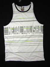 Metal Mulisha Moto-X AMP Freestyle striped men's soft tank top size LARGE