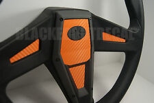 Polaris RZR 1000 XP Orange Carbon Fiber Steering Wheel Inlay Decal Kit  XP1K