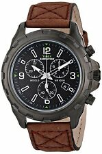 Timex Mens Expedition Rugged Metal Field Chrongraph Brown Leather Watch T49986