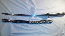 Single Dragon design Katana Samurai Fighter Sword Stainless Steel