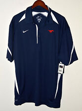 Nike SMU Mustangs Play Action Pass Polo Navy Blue Large