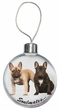 French Bulldogs 'Soulmates' Sentiment Christmas Tree Bauble Decoratio, SOUL-31CB