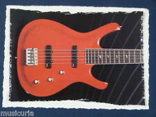 as/ handmade greetings / birthday card LARRIVEE 5 STRING BASS