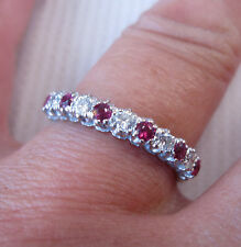 A  Beautiful Ruby & Diamond Eternity Ring set in 18ct White Gold