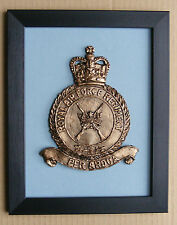 Large Scale Framed RAF - ROYAL AIR FORCE REGIMENT Badge Plaque Airforce