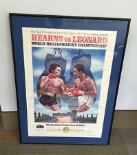 Rare SUGAR RAY LEONARD VS TOMMY HEARNS BOXING POSTER LAS VEGAS 1981