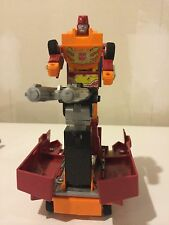 1986 VINTAGE RODIMUS PRIME G1 TRANSFORMERS - METAL FEET & RUBBER TIRES