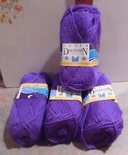 Dalegarn Heilo Lot of 4 Skeins - Purple - 100% New Norwegian Wool