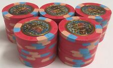 (50) $5 ARGOSY CASINO PAULSON POKER CHIPS