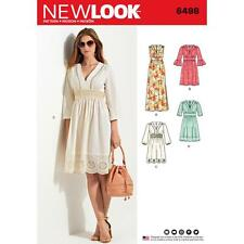 NEW LOOK SEWING PATTERN MISSES' Dresses 2 Lengths  Bodice Variations 6 - 18 6498