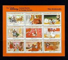 GRENADA - 1987 - DISNEY - THE ARISTOCATS - ANIMAL STORIES - MINT - SHEET!