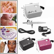 Portable SP16 Beauty Special Air Compressor Airbrush 0.3mm Needle Art Kit Black