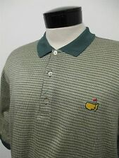 THE MASTERS AUGUSTA NATIONAL BOBBY JONES green yellow golf polo shirt M mens#504