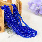 Lot 1500 PCS Royal Crystal Glass Faceted Loose Beads Rondelle Jewelry Making 4mm