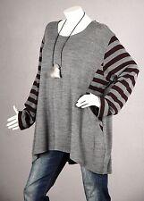 PREMIUM QUALITÄT Tunika Pullover Longpulli Bluse Top Shirt Strick Wolle XL 50