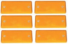 6 x Genuine Ifor Williams Orange / Amber Side Rectangle Reflector - P0696