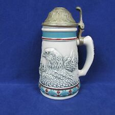 "Bald Eagle Beer Steins 1990 Avon Brazil 12oz 5.5"" Tall #91657"