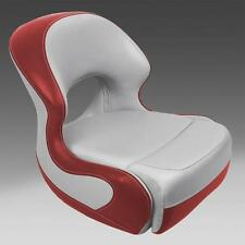 Classic Pontoon Boat Bucket Seat in Gray and Red