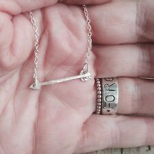 SILVER ARROW CHAIN NECKLACE Hand Made Sterling 925 LONDON HALLMARKED new season
