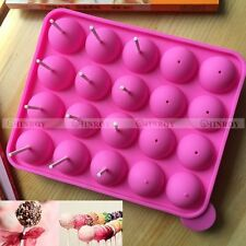 Lollipop Mold Party Cake Chocolate Cookie Pop Silicone Mould Baking Tray Stick