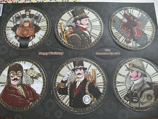KANBAN A4 SINGLE SHEET OF STEAM PUNK  TOPPERS CAMEO CLOCK (Adventure) PCT2258